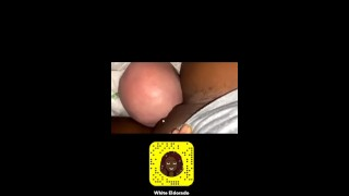 Young black french dominatrix cleans her pussy on top of her submissive white doggy