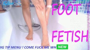 EPIC POV - FOOT FETISH - WASHING MY FEET, SHAVING MY LEGS - THE BEST OF PORNHUB CON COM AMATEUR