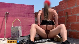 We invaded the construction site and she gave the ass! Great anal! Real amateur