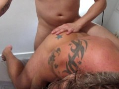 Bareback Real Amateur Gay Threesome Lockeds Up in Barcelona