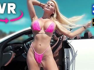 BIG BOOBS GIRL NUDE MICRO BIKINI BLONDE FUCKDOLL VR 3D 4K 360 180 VIRTUAL REALITY