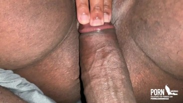 slapping my BBC on her pussy making her wet