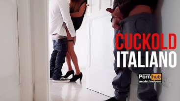 Cuckold boyfriend watches his young girlfriend fucked by his roommate