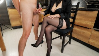 School teacher came home to student to masturbate on her stockings