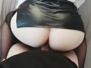 FUCKED TEEN WHORE IN LEATHER SKIRT