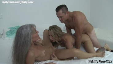 Stepmother and Girlfriend Fuck Young Son In Hot Threesome