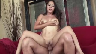 Big Dick Cums Deep inside, Deepthroat Horny Asian Tight Pussy