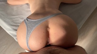 Teen Stepsis Wakes up while i'm Watching Porn and Helps me Cum Inside!