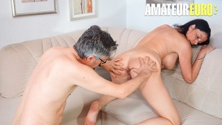 SexTapeGermany - Dacada Busty German Mature Fucks Old Guy In Steamy Audition - AMATEUREURO