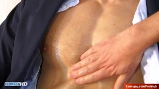 Came to sign a contract, serviced his huge dick in spite of himself: Alek.