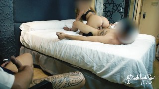 HUBBY WATCHES HIS WIFE FUCKED BY BESTFRIEND SHE MADE HIM CUM TWICE HOTEL CUCKOLD VIDEO FANTASY