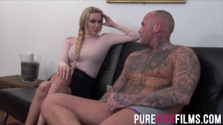 European goddess Amber Jayne getting slick twat fucked