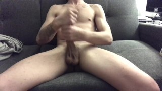 Solo Couch Sessions with Max and his Monster White Cock Ep.0