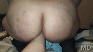 Mom's friend-fat Russian slut in stockings loves Fisting, tied up big Tits and fucked
