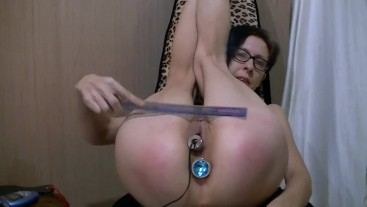 Paddle, Ruler, Anal Plug, electro plug pussy, rubber band nipples, Wand, Rolling pin, Squirt