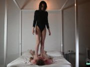 Mistress Katherine Tramples a Willing Slave