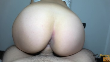 ANAL passion! Young MILF doggystyle, she wants to get cum on her ASS - 4K