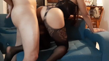Peleo con mi esposa y mi amante me recibe con sexy lencería