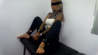 Tinder date restrained, Clothes cut of her and fucked violently