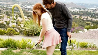 DevilsFilm Cute Redhead Teen Gets Fucked By Step-DILF After Golf Practice