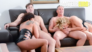 ReifeSwinger – Chubby German Matures Intense Kinky Swinger Foursome – AMATEUREURO