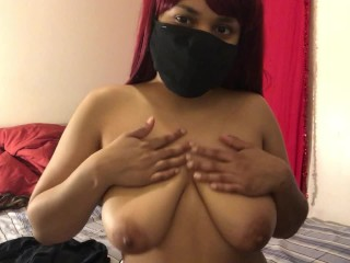 Bouncing My Oiled Up Tits, And Shaking My Ass! Imagine Your Cock Between My Tits!