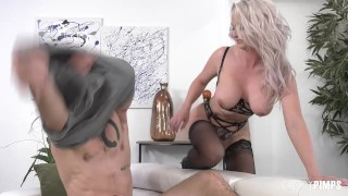 Busty Blonde MILF Gets The Hard Cock She Needs From Her Stepson