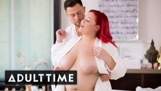 ADULT TIME Curvy Stunner April Flores Sensual & Oily Massage With Seth Gamble