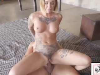 ANALIZED – BLONDE TATTOOED MILF KLEIO VALENTIEN FACIAL AFTER ROUGH ANAL FUCK