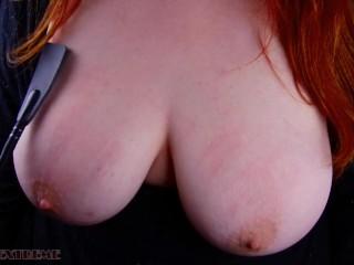 Slave Girl Riding Crop & Nipple Torture for Pain & Pleasure - German BBW Amateur Homemade Rough BDSM