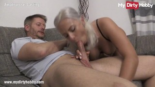 MyDirtyHobby Gorgeous busty blonde does her first casting