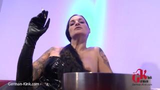 Smoking an Jerk off on her ASS - Sandra Sturm