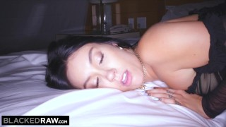 BLACKEDRAW Raven-haired beauty cheats on BF with huge BBC