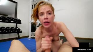 Gagging Girl Pepper Hart Deep Throats & Pussy Pounds A Cock!