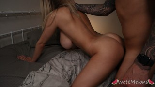 Big Natural Tits Teen Rides Before Hard Doggy Orgasm and Cumshot