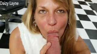 Friends Hot Mom Surprises Me and Swallows Every Drop of My Young Cum.POV