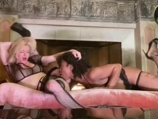 Misty Stone Treats Serene Siren to Romantic Fireside Pussy Eating. Full Vid at OnlyFans/SereneSiren