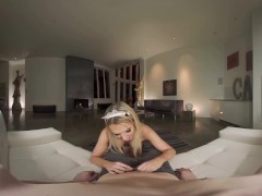 Horny Blonde Shemale in VR Porn