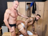 MenOver30 - Mature Daddy Fucks Workout Buddy's Hairy Ass