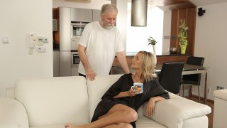 OLD4K Belle takes part in spontaneous lovemaking with her old hubby