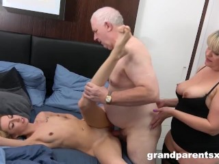 Au-Pair Trying out a Worn Out Cock