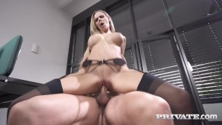 Private com Cuckold Peeps On Ass Packed Florane Russell!