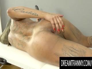 Amateur Tranny Imola Castro Shoves a Massive Rubber Rod up Her Asshole