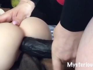 2 Big Black Monster Cocks Tag Team Sex Doll Anal DP