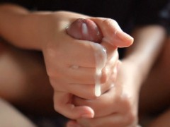 Pov Lubed Hand-job By Japanese Teen Massager. Enormous Slow Jizz Flow On Tender Hands.