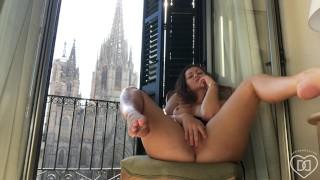 Dani Daniels . com Public Window Masturbation