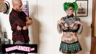 BurningAngel Dirty Emo Slut Wants Him To Cum On Her Big Tits, Gets Rough Fucked