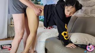 June Liu 刘玥 / SpicyGum - Chinese Teen Blowing & Riding a Cute Geek's Dick / Amateur