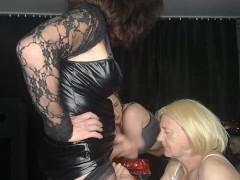 Tarnny milf abd sexy Femdom Dominating a sissy