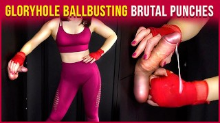 Gloryhole Handjob BALLBUSTING - I Destroy His Balls   Era